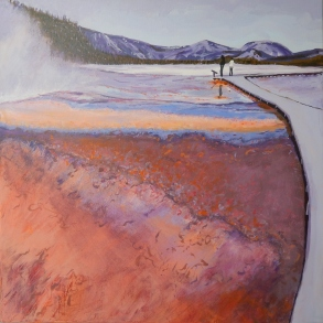 Hot Springs, Yellowstone Acrylic NFS