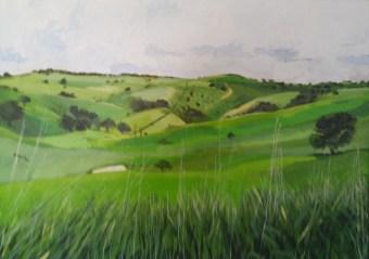 Macclesfield landscape Acrylic NFS