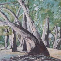 Dark trees Pastel