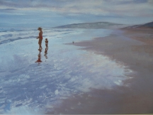 Glistening shallows Oil SOLD Commendation Solar Art Prize 2015