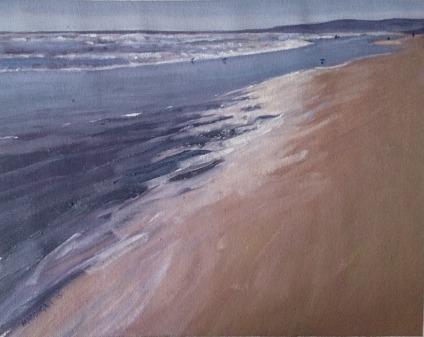 Last light Goolwa Beach Oil SOLD