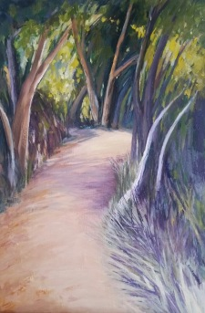 Path at dusk Acrylic 48 x 32cm NFS