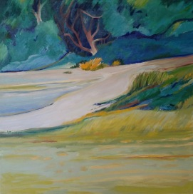 Mitta Mitta estuary Oil 46 x 46 cm $300 Stretched canvas