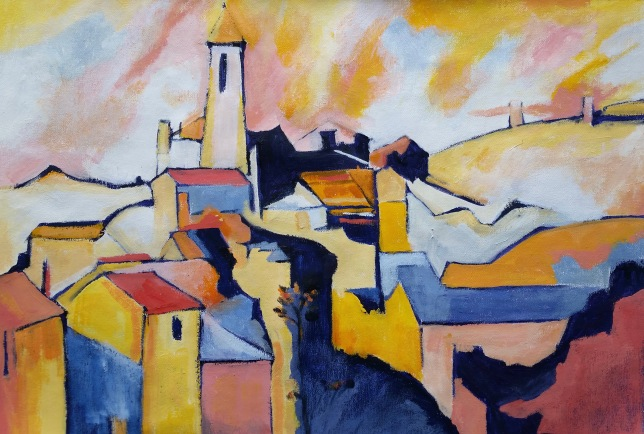 Townscape after Cezanne Acrylic NFS