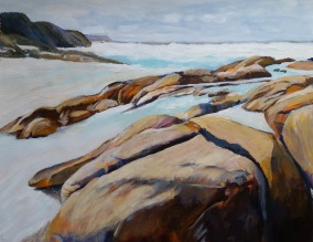 Lights Beach WA Acrylic 51x61 cm