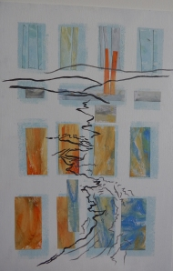 Beach calligraphy Mixed media SOLD
