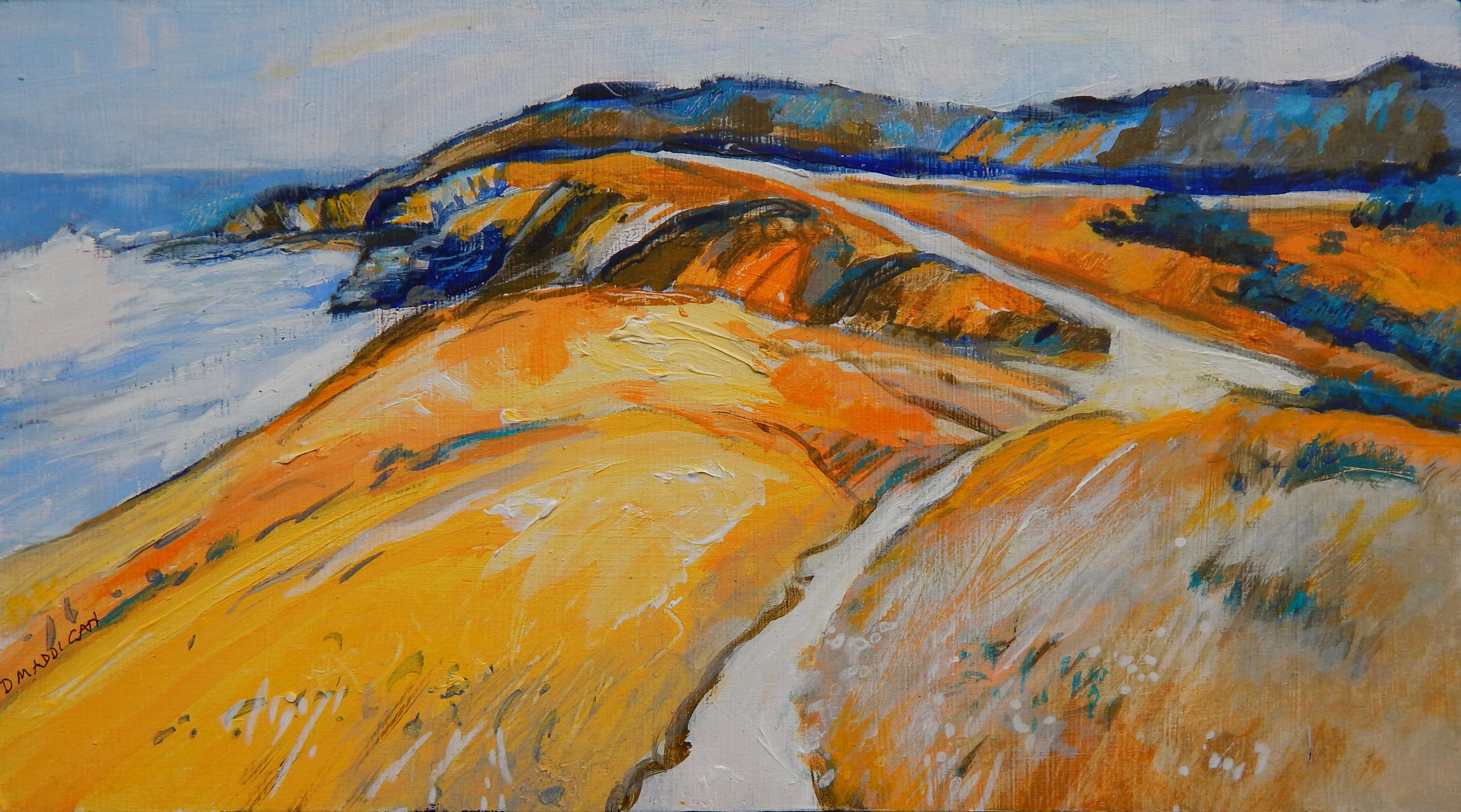 St Jean-de-Luz headland  Acrylic  13x23 cm