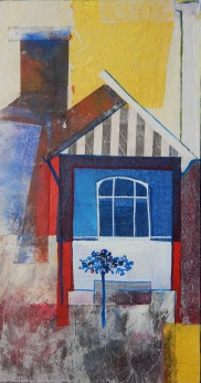 The old post office Mixed media 43 x 23 cm $250 framed