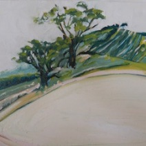 Olives on the hill Oil 30 x 40 cm $250 stretched canvas