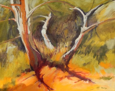 Seeking shade Oil 40 x 51 cm $350 stretched canvas