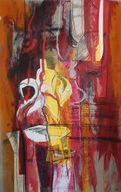Still life abstract Mixed media SOLD