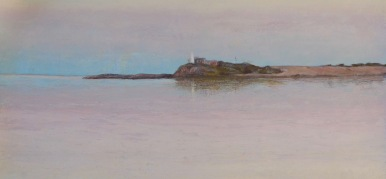 Dusk, Point Malcolm Oil 28x49 cm SOLD