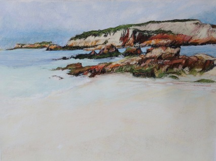 Penguin Is Beachport Pastel 45 x 53 cm $350 framed