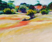 Dry wetlands Oil 41 x 50 cm SOLD