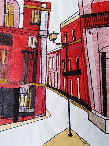 Seville 3 Collage, gouache and pen 26 x 19cm NFS