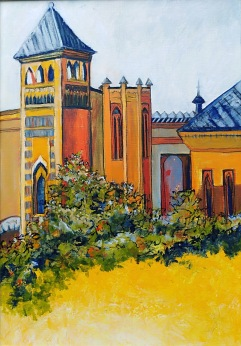 Museum, Parque de Maria Luisa, Seville Acrylic and ink 56 x 38 cm $350 framed