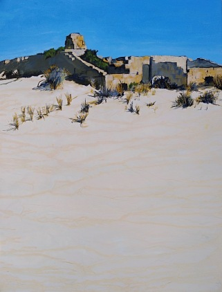 Old Telegraph Station, Eucla Acrylic 49 x 36 cm SOLD