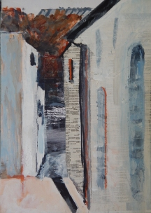 Strada, Casole d'Elsa Mixed media SOLD