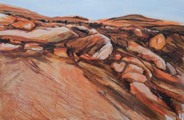 Dusk, Almerta Rocks