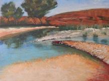 Natural Springs, Alberta Acrylic 29 x 36 cm