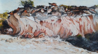The Breakaways, WA 1 Pastel 35 x 20 cm