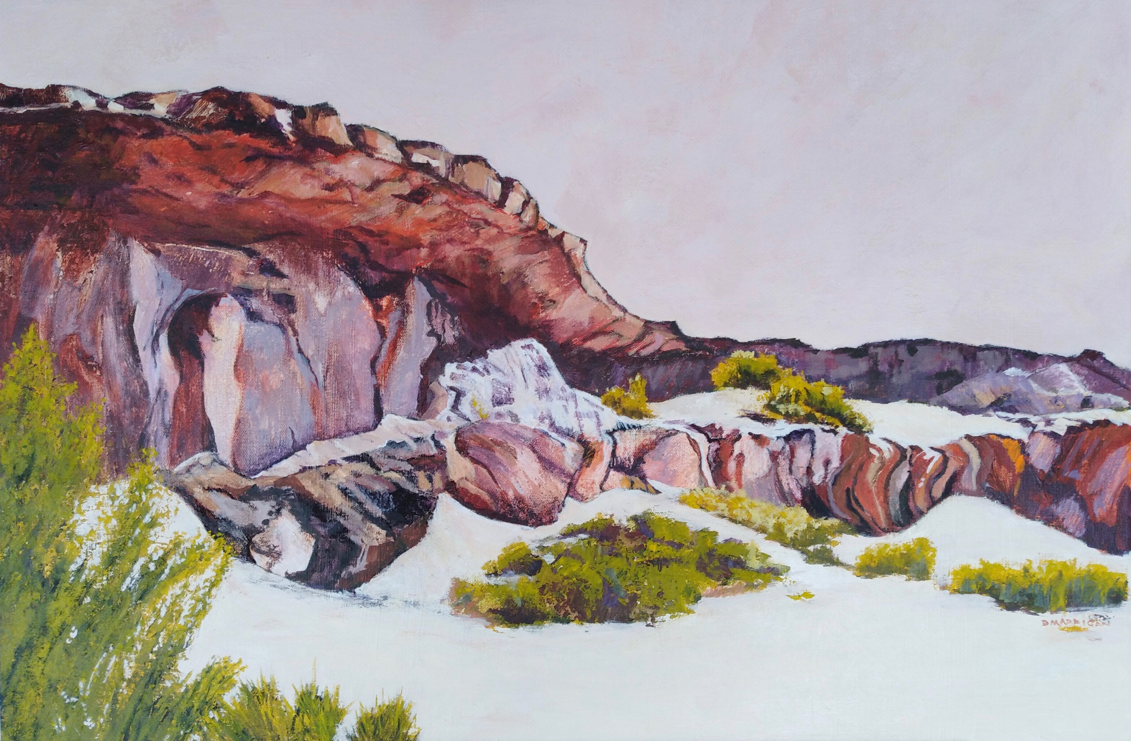 The Breakaways, WA 2 Acrylic  76 x 51 cm