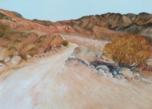 Arkaroola Ridge Top Pastel and charcoal 55 x 54 cm SOLD