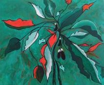 Aubergine 2 Acrylic and inktense 25 x 30 cm $250 framed