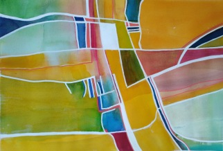 Abstract 2 Watercolour and acrylic 30 x 40 cm SOLD