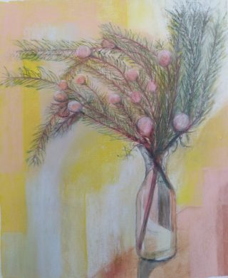 Leucadendron Pastel and inktense 65 x 52 cm $250