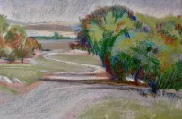 Path to Bashams Pastel unframed $200