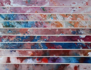 Colour indulgence 1 Mixed media Framed 107 cm x 112 cm SOLD