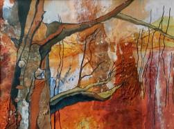 Autumn Oak Mixed media on paper 42 x 63 cm SOLD